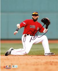 "Dustin Pedroia Boston Red Sox Autographed 8"" x 10"" One Knee Photograph"