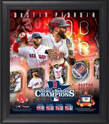 "Dustin Pedroia Boston Red Sox 2013 MLB World Series Champions Framed 15"" x 17"" Collage with Game-Used Baseball"