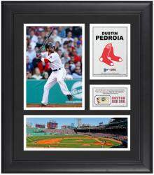 "Dustin Pedroia Boston Red Sox Framed 15"" x 17"" Collage with Game-Used Baseball - Mounted Memories"