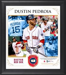 "Dustin Pedroia Boston Red Sox Framed 15"" x 17"" Collage with Piece of Game-Used Ball"