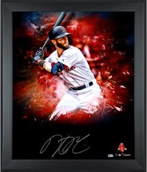 "Dustin Pedroia Boston Red Sox Framed Autographed 20"" x 24"" In Focus Photograph-Limited Edition #2-24 of #25"