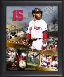 "Dustin Pedroia Boston Red Sox Framed 16"" x 20"" Film Strip Composite with Piece of Game-Used Ball-Limited Edition of 500"