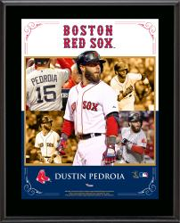 "Dustin Pedroia Boston Red Sox Sublimated 10.5"" x 13"" Composite Plaque"
