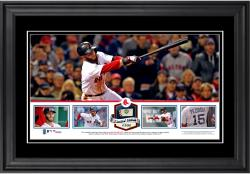 Dustin Pedroia Boston Red Sox Framed Panoramic with Piece of Game-Used Ball - Limited Edition of 500 - Mounted Memories
