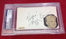 Peggy Lee signed Index Card Slabbed PSA/DNA #83107955