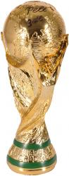Pele Brazil Autographed Replica FIFA World Cup Trophy with 3 WC Inscription