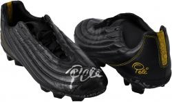 Pele Brazil Autographed Black Game Model Cleats