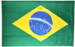 Pele Brazil Autographed Brazilian Flag