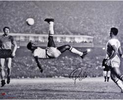 "Pele Brazil Autographed 16"" x 20"" Bicycle Kick Photograph"