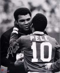 "Pele Brazil Autographed 16"" x 20"" with Ali Photograph"