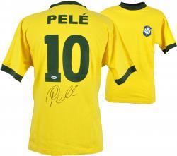 Pele Brazil Autographed Toffs Yellow Jersey