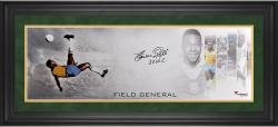 "Pele Brazil Framed Autographed 10"" x 30"" Field General Photograph with Multiple Inscriptions-Limited Edition of 10"