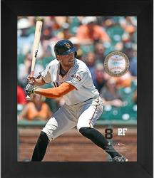 "Hunter Pence San Francisco Giants Framed 20"" x 24"" Gamebreaker Photograph with Game-Used Ball"