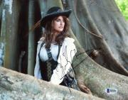 "Penelope Cruz Autographed 8"" x 10"" Pirates of the Caribbean: in Woods Photograph - Beckett COA"