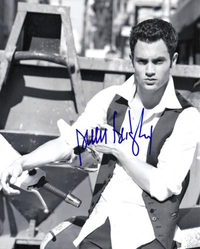 Penn Badgley Autographed Signed BnW Photo UACC RD COA AFTAL