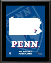 PENN QUAKERS (STATE) 10x13 PLAQUE (SUBL) - Mounted Memories