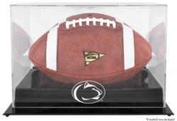 Penn State Nittany Lions Black Base Logo Football Display Case with Mirror Back - Mounted Memories