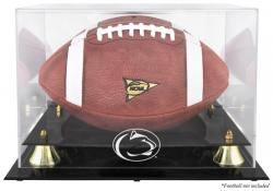 Penn State Nittany Lions Golden Classic Logo Football Display Case with Mirror Back - Mounted Memories
