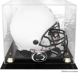 Penn State Nittany Lions Golden Classic Logo Helmet Display Case with Mirrored Back