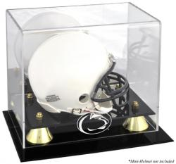 Penn State Nittany Lions Golden Classic Logo Mini Helmet Display Case