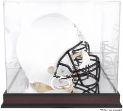Penn State Nittany Lions Mahogany Base Team Logo Helmet Display Case with Mirrored Back