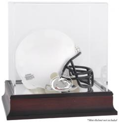 Penn State Nittany Lions Mahogany Logo Mini Helmet Display Case with Mirror Back