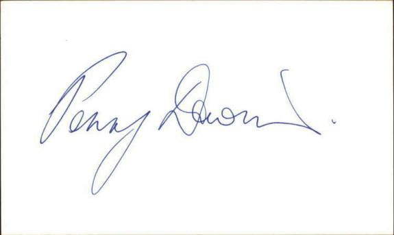"""Penny Downie Actress Invictus Signed 3"""" x 5"""" Index Card"""