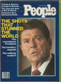 People Weekly Magazine April 13 1981 Ronald Reagan Shot
