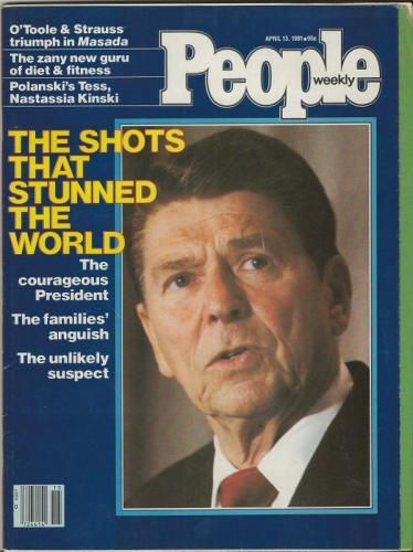 People Weekly Magazine April 13 1981 Ronald Reagan Shot