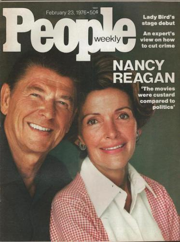 People Weekly Magazine February 23 1976 Ronald & Nancy Reagan