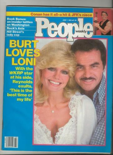 People Weekly Magazine June 7 1982 Burt Reynolds & Loni Anderson WKRP