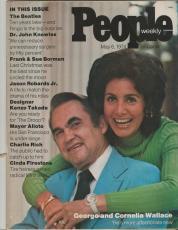 People Weekly Magazine May 6 1974 Cornelia & George Wallace The Beatles