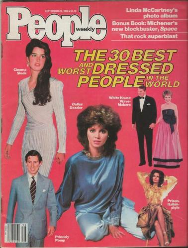 People Weekly Magazine September 20 1982 Nancy & Ronald Reagan Prince Charles