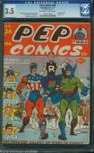 PEP COMICS #36 1943 CGC 3.5 OWW 1ST ARCHIE COVER SUPER CLEAN #1200729005 mms