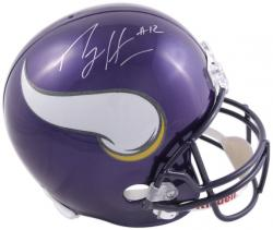 Percy Harvin Autographed Helmet - Riddell Replica Mounted Memories