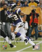 "Percy Harvin Minnesota Vikings Autographed 8"" x 10"" Action Photograph with ROY 09 Inscription"