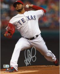 Martin Perez Texas Rangers Autographed 8'' x 10'' Pitching White Photograph - Mounted Memories