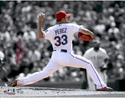 "Martin Perez Texas Rangers Autographed 11"" x 14"" Spotlight Photograph"