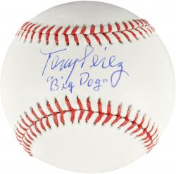 Tony Perez Cincinnati Reds Autographed Baseball with Big Dog Inscription