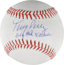 Tony Perez Cincinnati Reds Autographed Baseball with Big Red Machine Inscription