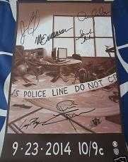 Person of Interest signed auto SDCC poster Caviezel Chapman Emerson Acker Shahi