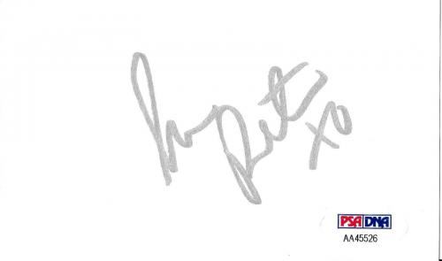 Peta Wilson Signed 3x5 Index Card PSA/DNA COA Autograph La Femme Nikita Playboy