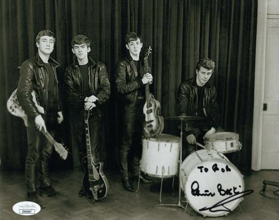 PETE BEST HAND SIGNED 8x10 PHOTO    AMAZING POSE+THE BEATLES      TO BOB     JSA