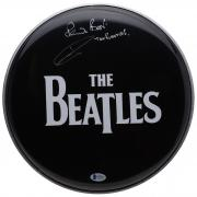 "Pete Best The Beatles Autographed Drum Head with ""The Beatles"" Inscription - BAS"