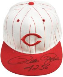 Pete Rose Cincinnati Reds Autographed Baseball Hat with ''4256'' Inscription - Mounted Memories