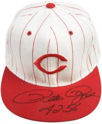 "Pete Rose Cincinnati Reds Autographed Baseball Hat with ""4256"" Inscription"