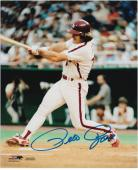 Pete Rose Philadelphia Phillies Autographed 8'' x 10'' Swinging Photograph - Mounted Memories