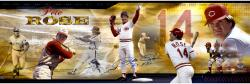 Pete Rose Cincinnati Reds Autographed Panoramic Photograph