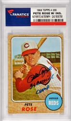 Pete Rose Cincinnati Reds Autographed 1968 Topps #230 Card with 3 X Batting Champ Inscription