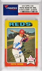 Pete Rose Cincinnati Reds Autographed 1975 Topps #320 Card with 73 NL MVP Inscription